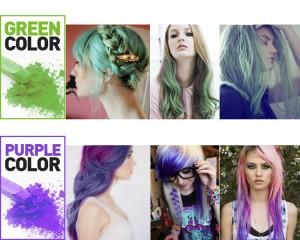 couleur vert et violet