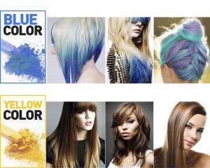 couleur bleu et jaune